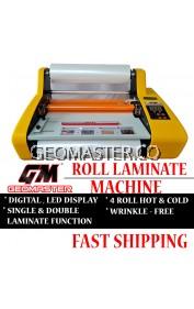 "GEOMASTER A3 Laminating Machine, Roll Laminate Machine 13"" Width, Cold / Hot Laminate- Single/ Dual Sided Laminate"
