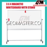 3 X 4 MAGNECTIC WITHEBOARD WITH STAND (91CM X 122CM)