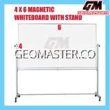 4 X 6 MAGNECTIC WITHEBOARD WITH STAND (122CM X 183CM)