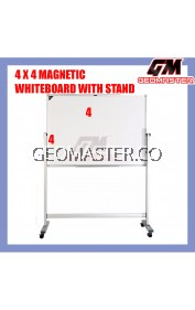 4 X 4 MAGNECTIC WITHEBOARD WITH STAND (122CM X 122CM)