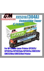Compatible Colour Laser Toner HP 304A / CC531A Cyan High Quality Compatible Toner Cartridge For HP Colour Laser Printer CP2025 / CP2025n / CP2025dn / CP2025x / CM2320 / CM2320fxi / CM2320nf