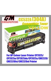 Compatible Colour Laser Toner HP 304A / CC532A Yellow High Quality Compatible Toner Cartridge For HP Colour Laser Printer CP2025 / CP2025n / CP2025dn / CP2025x / CM2320 / CM2320fxi / CM2320nf