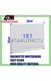 HIGH QUALITY Magnetic White Board WHITEBOARD (30cm x 30 cm)-  1 x 1 ruler