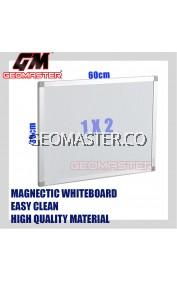HIGH QUALITY Magnetic White Board WHITEBOARD (30cm x 60 cm)-  1 x 2 ruler