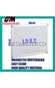 HIGH QUALITY Magnetic White Board WHITEBOARD (45cm x 60 cm)-  1.5 x 2 ruler