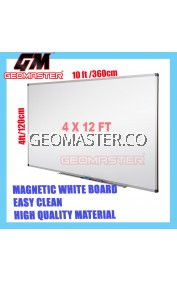 HIGH QUALITY Magnetic White Board WHITEBOARD (122cm x 360cm)- 4 x 12 ruler