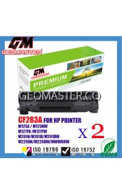 2 UNIT Compatible HP CF283A (83A) Toner Cartridge FOR HP LaserJet Pro MFP M125nw/M127fn/M127f