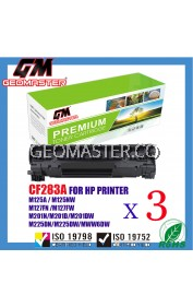 3 UNIT Compatible HP CF283A (83A) Toner Cartridge FOR HP LaserJet Pro MFP M125nw/M127fn/M127f
