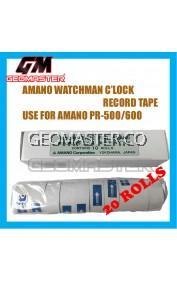 AMANO PR600 WATCHMAN CLOCK PAPER ROLLS - 20ROLLS