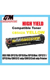HP Compatible CB542A / 125A Yellow High Quality Compatible Toner Cartridge For HP CP1210 / CP1215 / CP1510 / CP1515 / CP1518 / CM1300 / CM1312 Printer